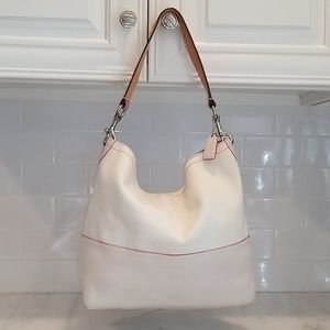 Coach Limited Ed Canvas Leather Bucket Resort Tote